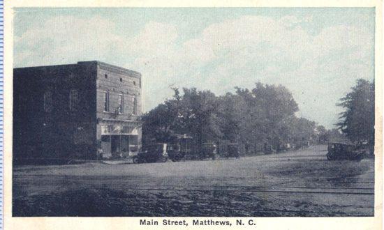 History of Matthews NC