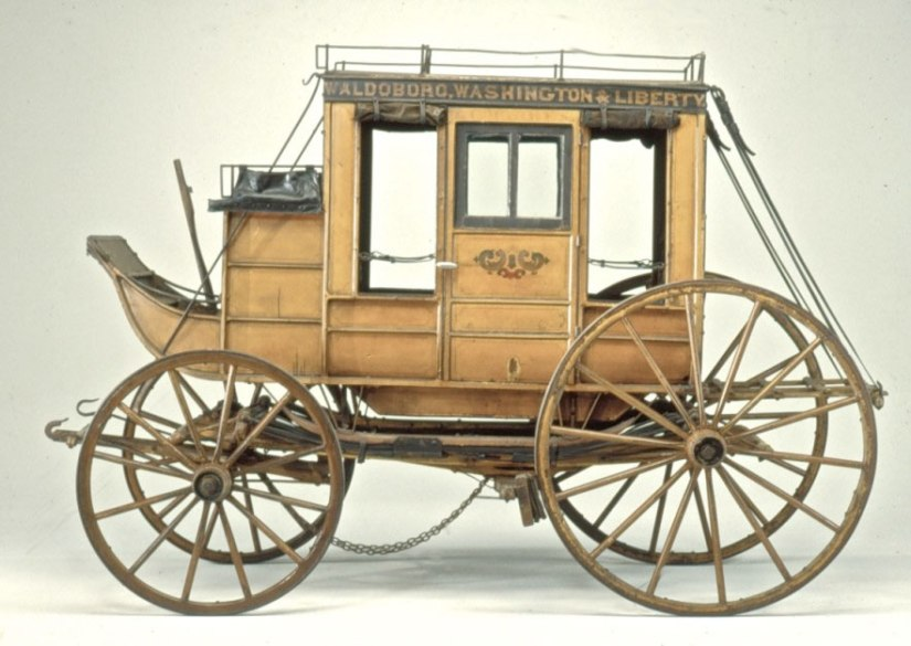Stagecoach in North Carolina during the 1800s